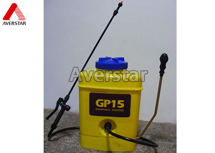15L Portable Manual Pesticide Sprayer High Durability With Yellow Plastic Drum